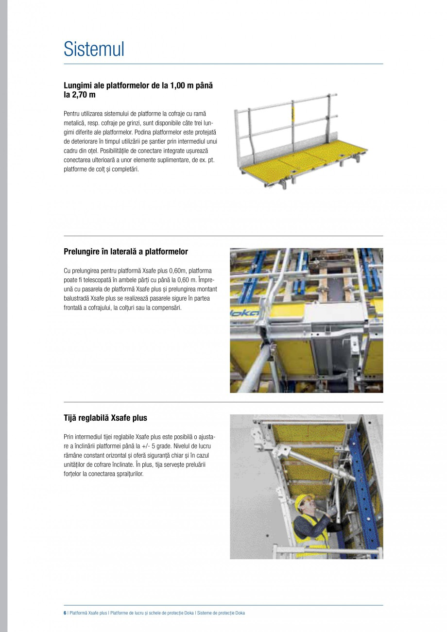 Pagina 5 - Siguranta pe santier - Sisteme de protectie DOKA Xsafe plus, K, XP, Montanti, Xclimb 60, ...