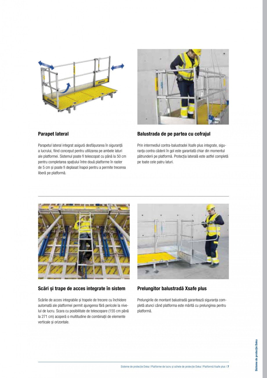 Pagina 6 - Siguranta pe santier - Sisteme de protectie DOKA Xsafe plus, K, XP, Montanti, Xclimb 60, ...