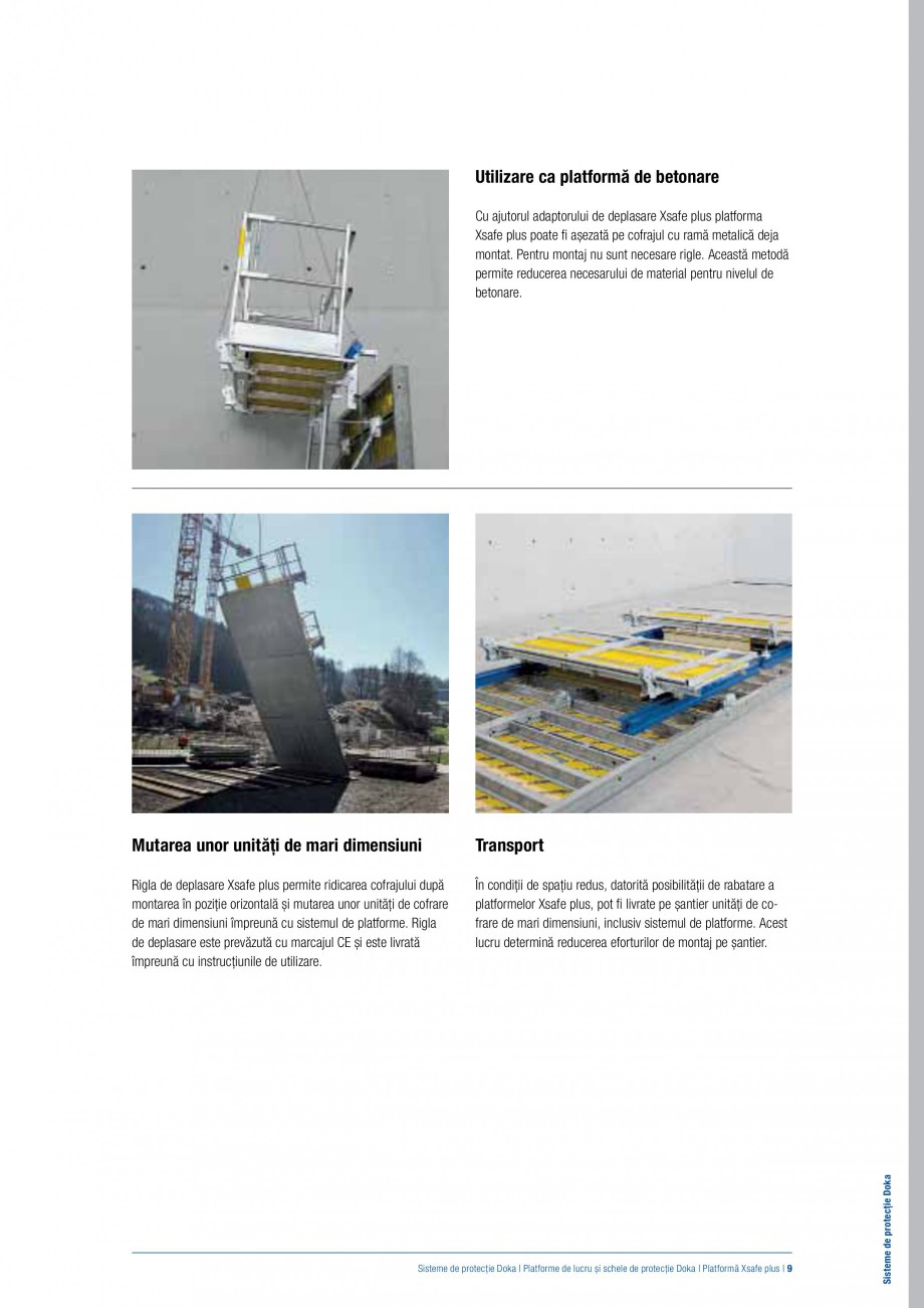 Pagina 8 - Siguranta pe santier - Sisteme de protectie DOKA Xsafe plus, K, XP, Montanti, Xclimb 60, ...
