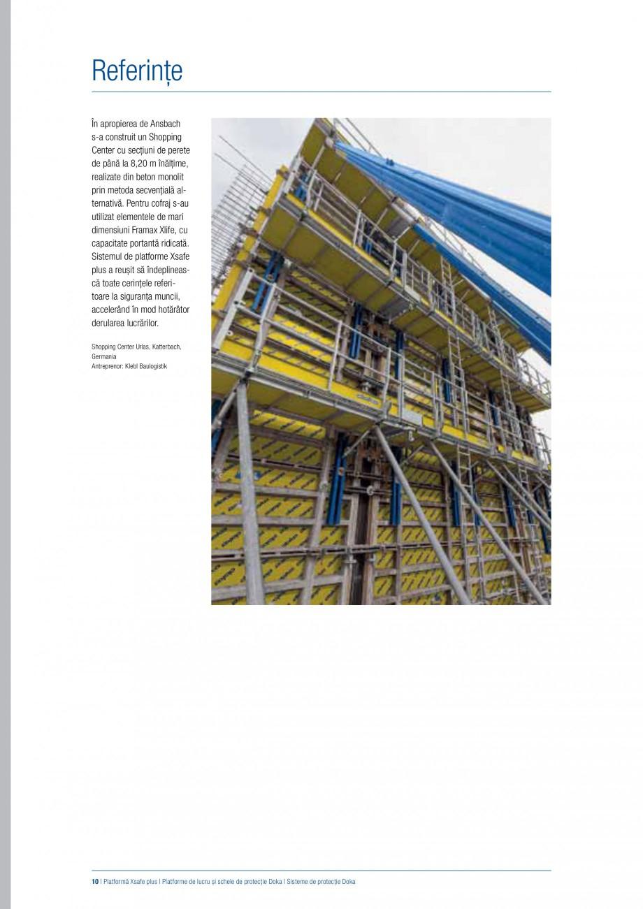 Pagina 9 - Siguranta pe santier - Sisteme de protectie DOKA Xsafe plus, K, XP, Montanti, Xclimb 60, ...
