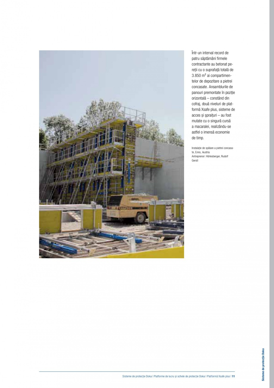 Pagina 10 - Siguranta pe santier - Sisteme de protectie DOKA Xsafe plus, K, XP, Montanti, Xclimb 60,...