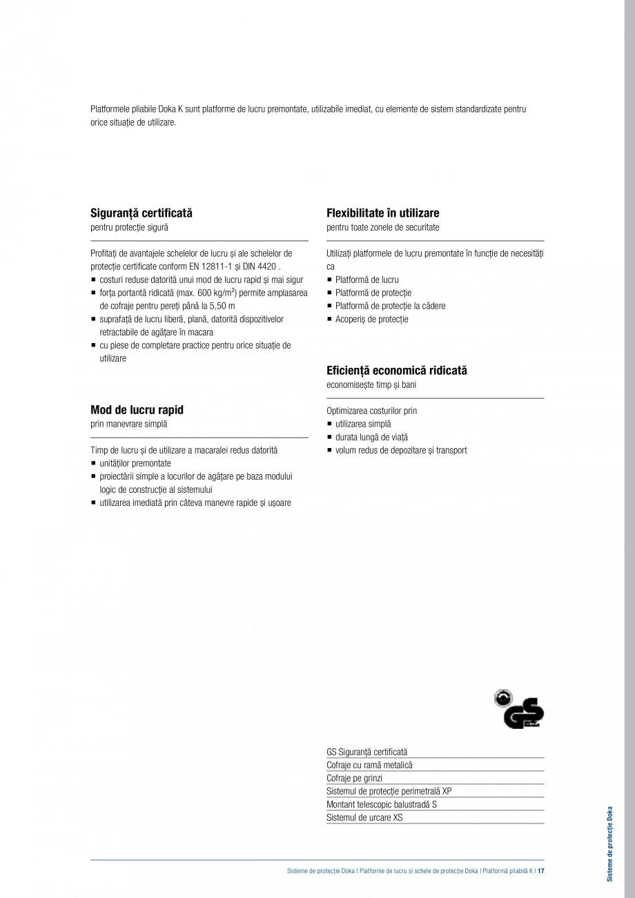Pagina 16 - Siguranta pe santier - Sisteme de protectie DOKA Xsafe plus, K, XP, Montanti, Xclimb 60,...