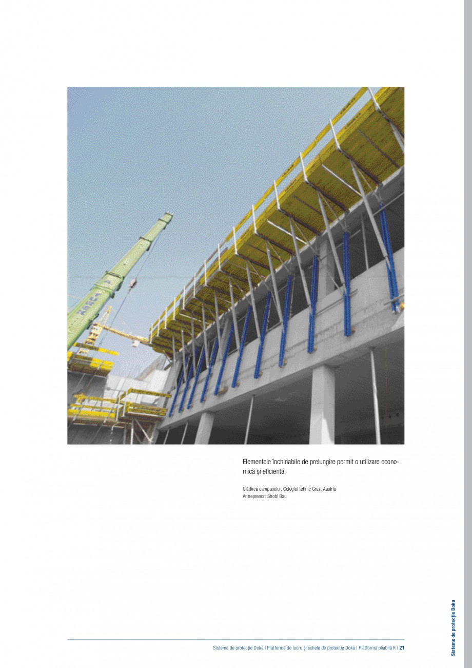 Pagina 20 - Siguranta pe santier - Sisteme de protectie DOKA Xsafe plus, K, XP, Montanti, Xclimb 60,...
