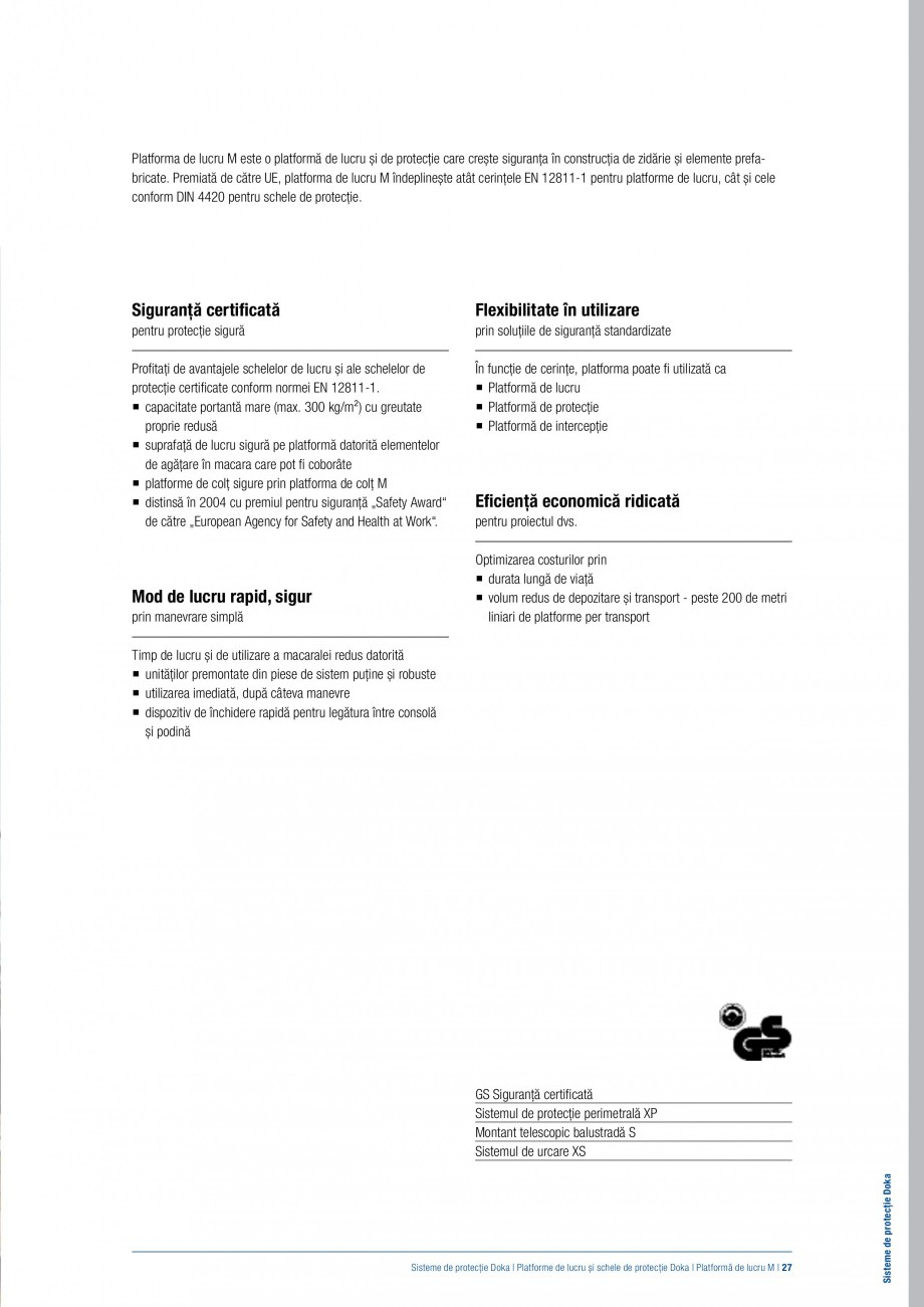 Pagina 26 - Siguranta pe santier - Sisteme de protectie DOKA Xsafe plus, K, XP, Montanti, Xclimb 60,...