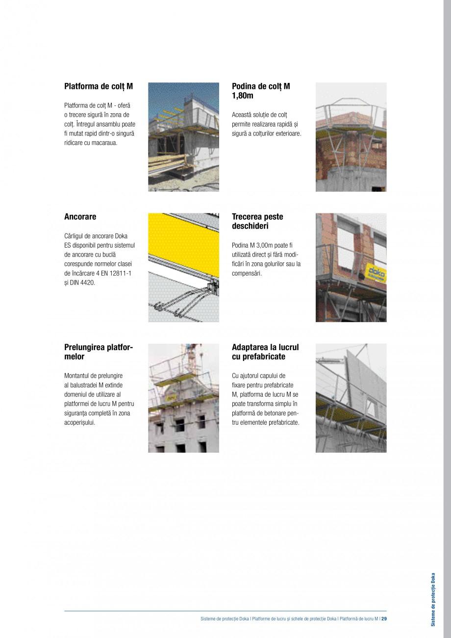 Pagina 28 - Siguranta pe santier - Sisteme de protectie DOKA Xsafe plus, K, XP, Montanti, Xclimb 60,...