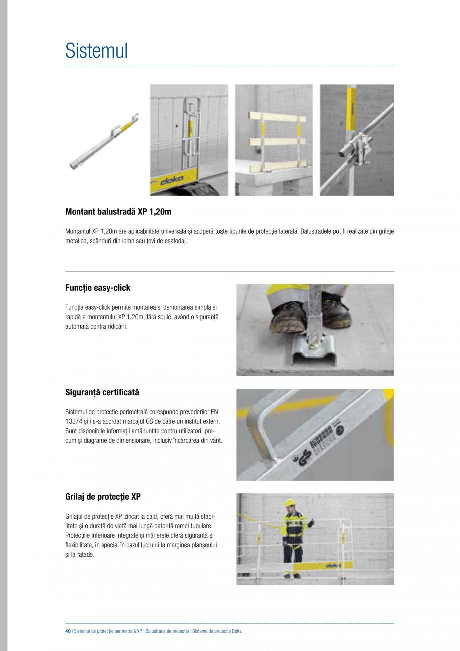Pagina 39 - Siguranta pe santier - Sisteme de protectie DOKA Xsafe plus, K, XP, Montanti, Xclimb 60,...