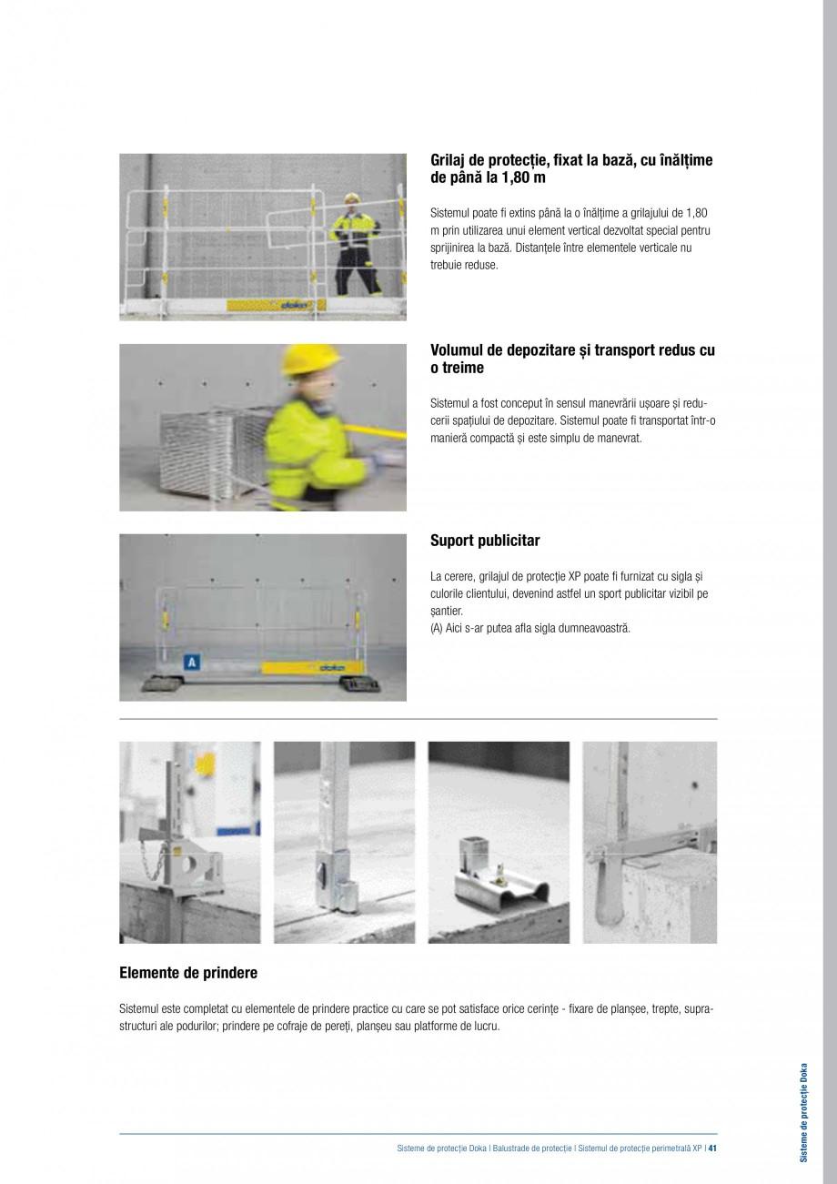 Pagina 40 - Siguranta pe santier - Sisteme de protectie DOKA Xsafe plus, K, XP, Montanti, Xclimb 60,...