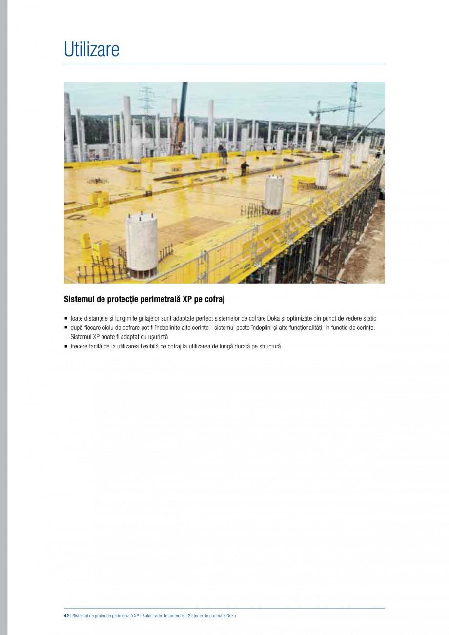 Pagina 41 - Siguranta pe santier - Sisteme de protectie DOKA Xsafe plus, K, XP, Montanti, Xclimb 60,...