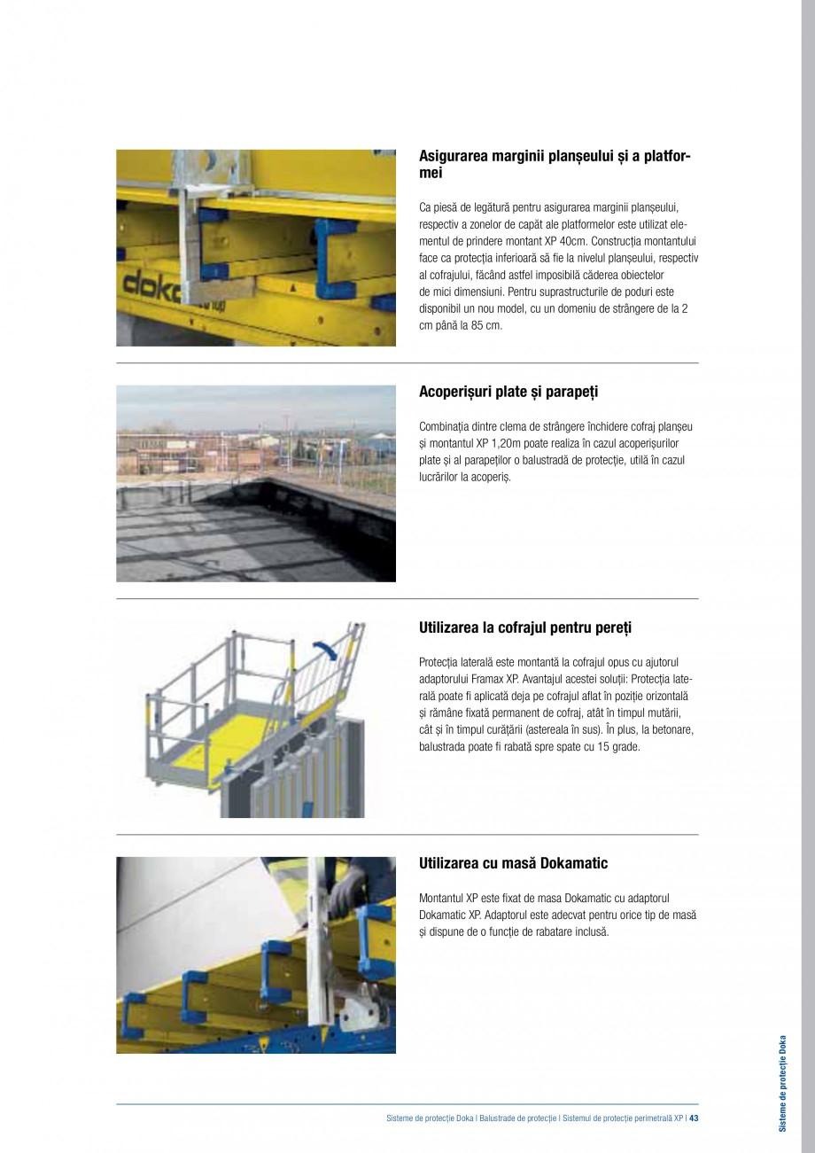Pagina 42 - Siguranta pe santier - Sisteme de protectie DOKA Xsafe plus, K, XP, Montanti, Xclimb 60,...