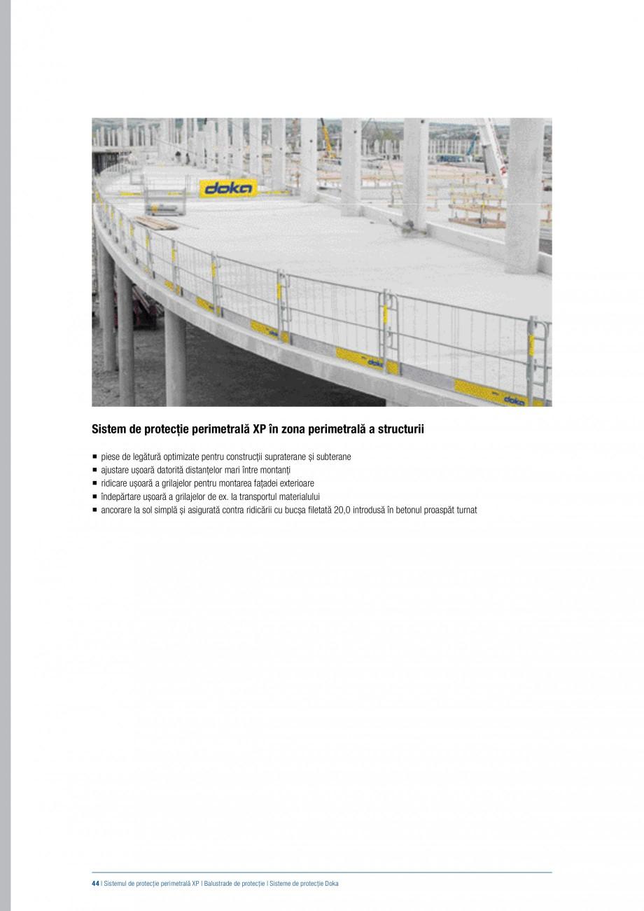 Pagina 43 - Siguranta pe santier - Sisteme de protectie DOKA Xsafe plus, K, XP, Montanti, Xclimb 60,...