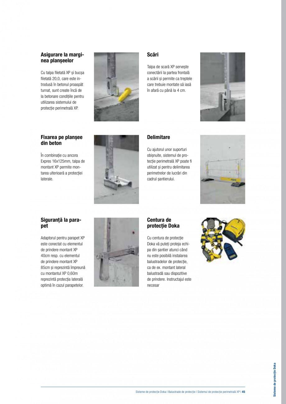 Pagina 44 - Siguranta pe santier - Sisteme de protectie DOKA Xsafe plus, K, XP, Montanti, Xclimb 60,...