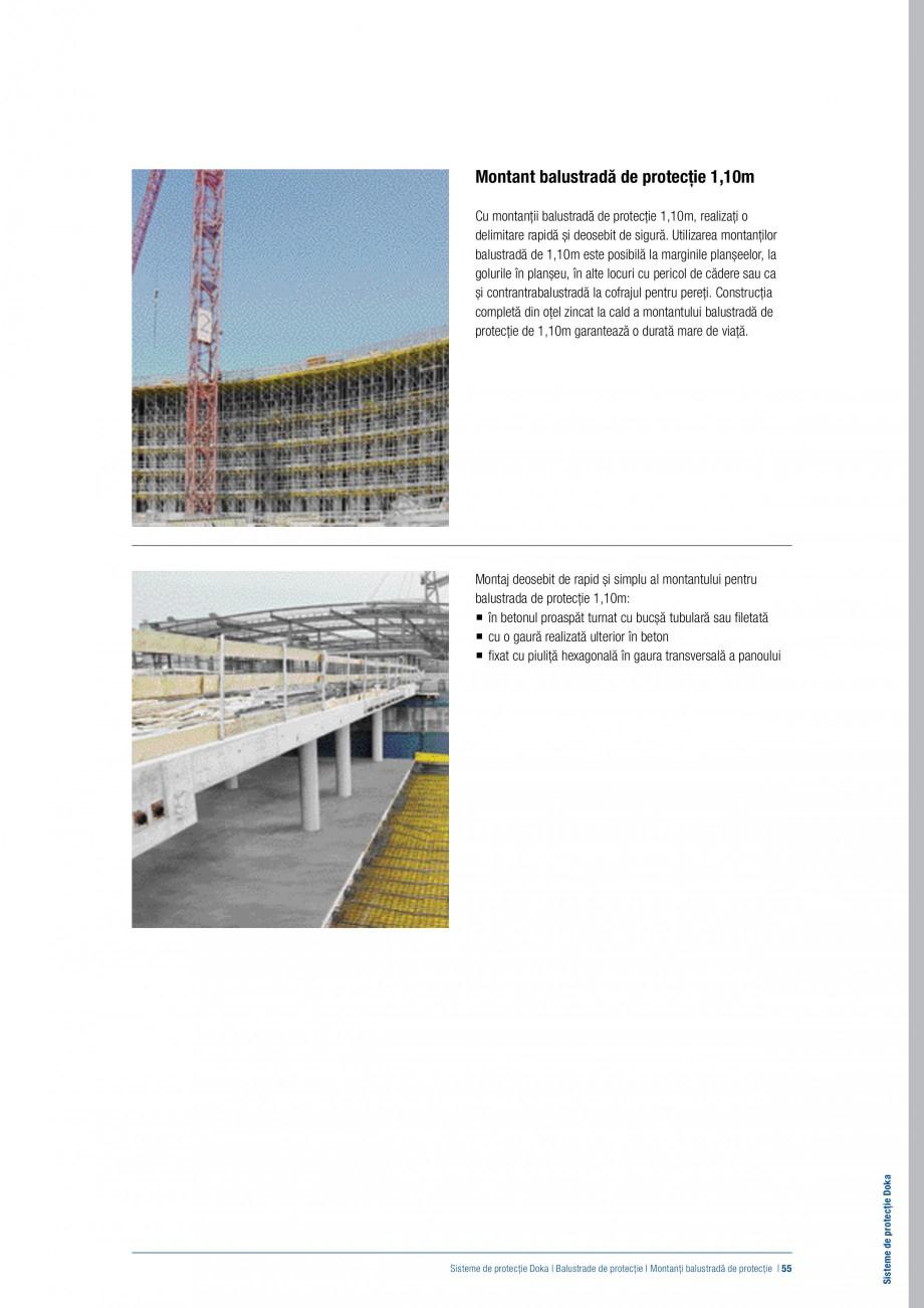 Pagina 54 - Siguranta pe santier - Sisteme de protectie DOKA Xsafe plus, K, XP, Montanti, Xclimb 60,...