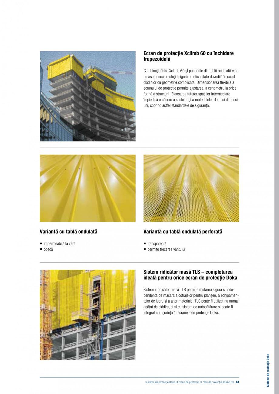 Pagina 60 - Siguranta pe santier - Sisteme de protectie DOKA Xsafe plus, K, XP, Montanti, Xclimb 60,...
