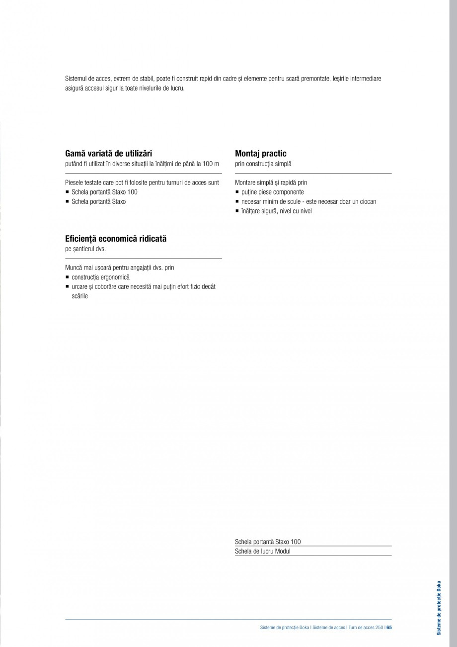Pagina 64 - Siguranta pe santier - Sisteme de protectie DOKA Xsafe plus, K, XP, Montanti, Xclimb 60,...