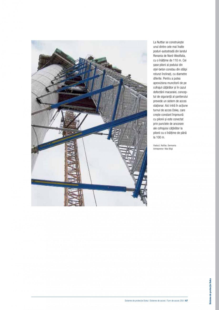 Pagina 66 - Siguranta pe santier - Sisteme de protectie DOKA Xsafe plus, K, XP, Montanti, Xclimb 60,...