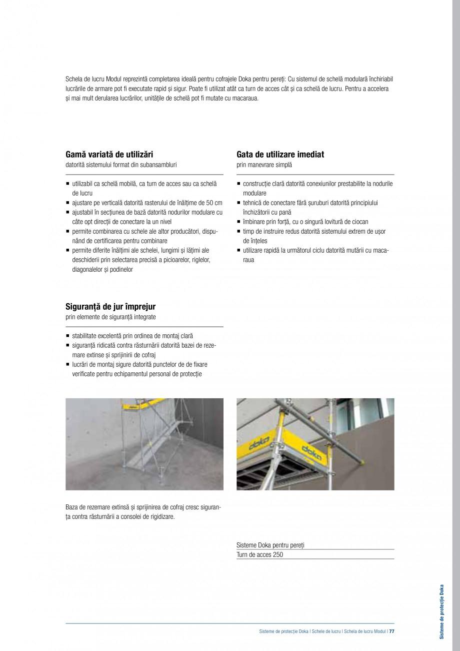 Pagina 76 - Siguranta pe santier - Sisteme de protectie DOKA Xsafe plus, K, XP, Montanti, Xclimb 60,...
