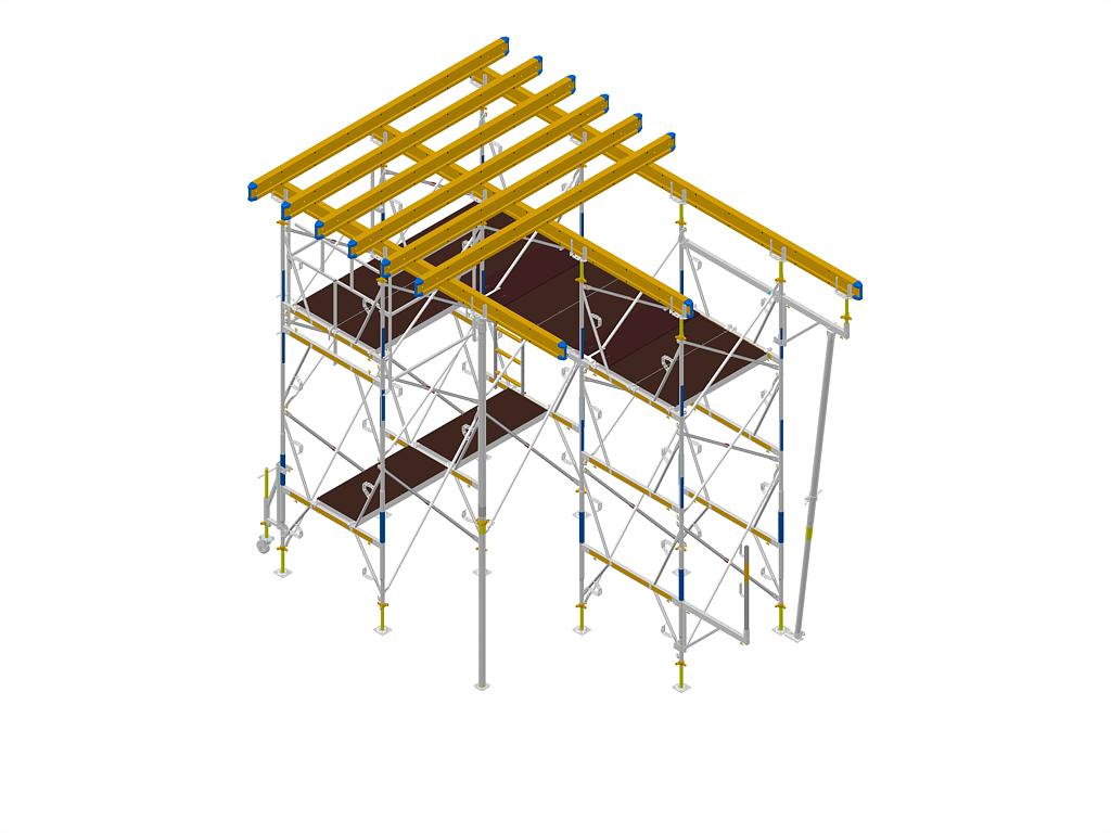 Exemple de montaj schela portanta DOKA - Poza 2