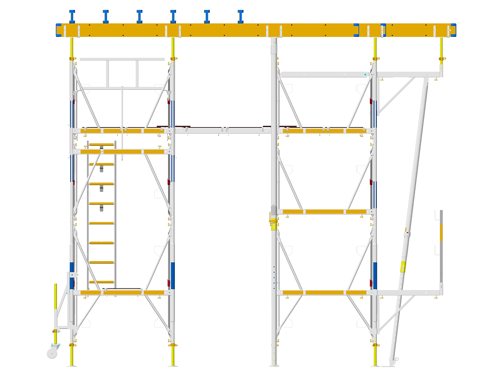 Exemple de montaj schela portanta DOKA - Poza 3