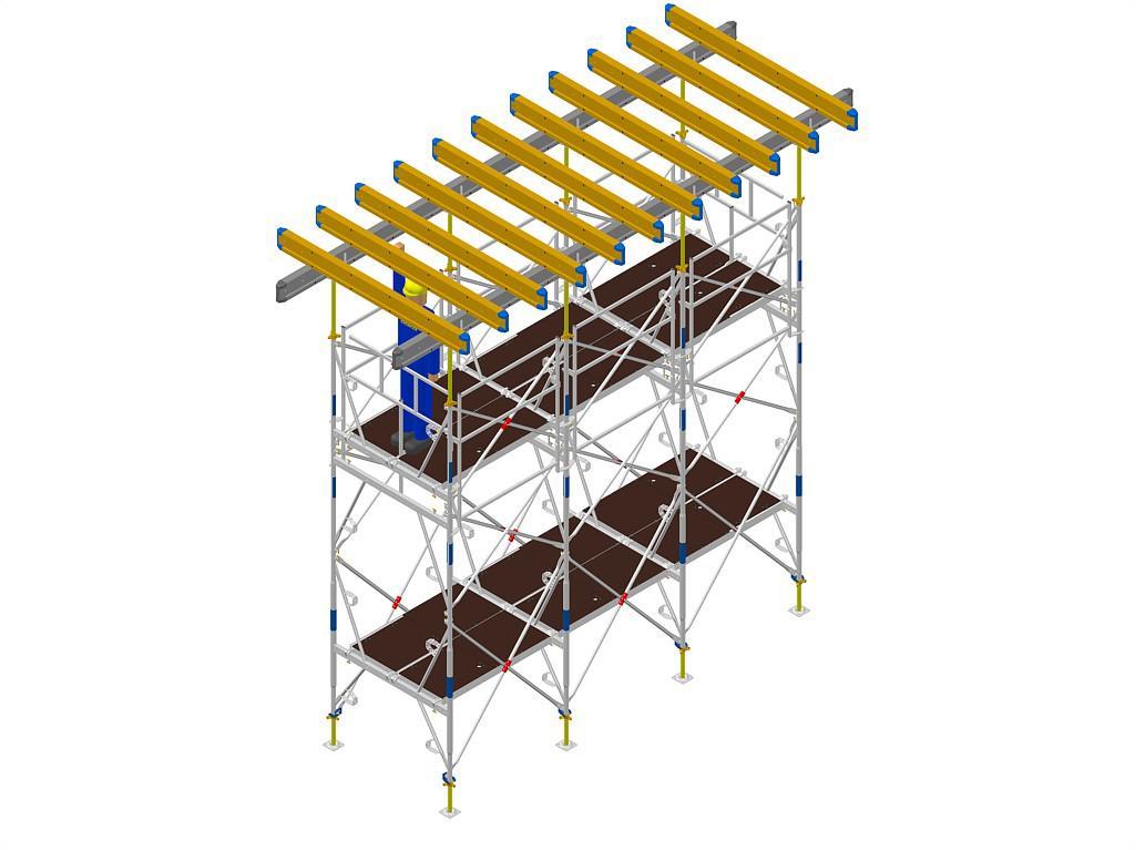 Exemple de montaj schela portanta DOKA - Poza 4