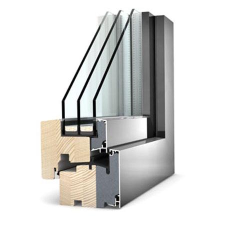 Ferestre din lemn cu invelis exterior din aluminiu Internorm - Poza 1