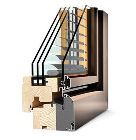 Ferestre din lemn cu invelis exterior din aluminiu Internorm - Poza 4