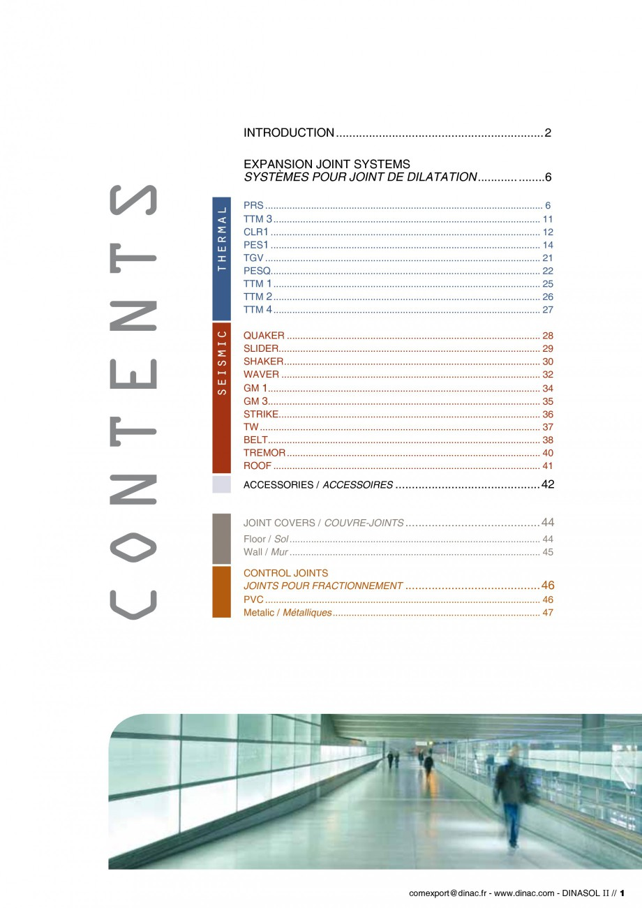 Pagina 3 - Profile de dilatatie pentru pereti, pardoseli  Catalog, brosura Engleza, Franceza ..........