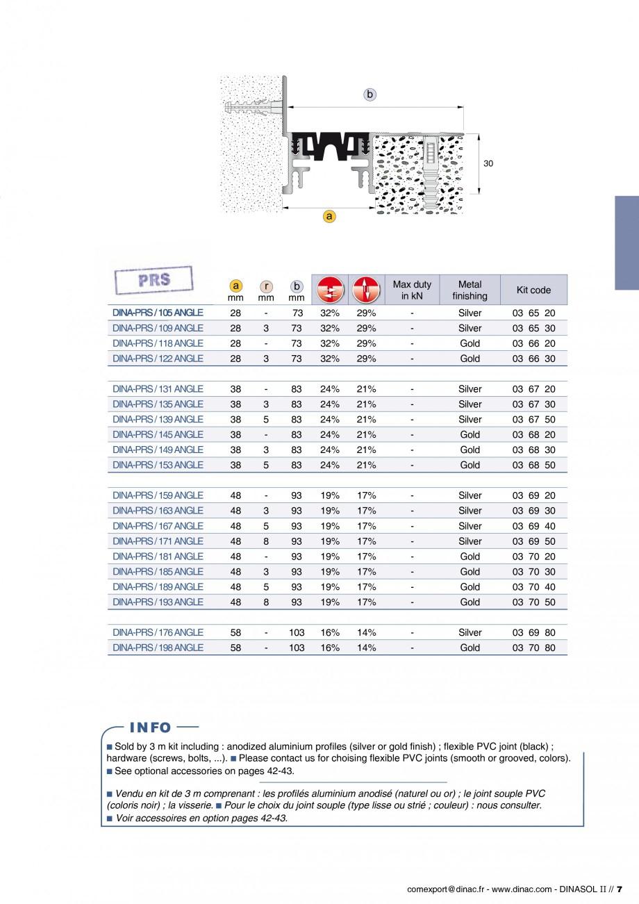 Pagina 9 - Profile de dilatatie pentru pereti, pardoseli  Catalog, brosura Engleza, Franceza afond /...