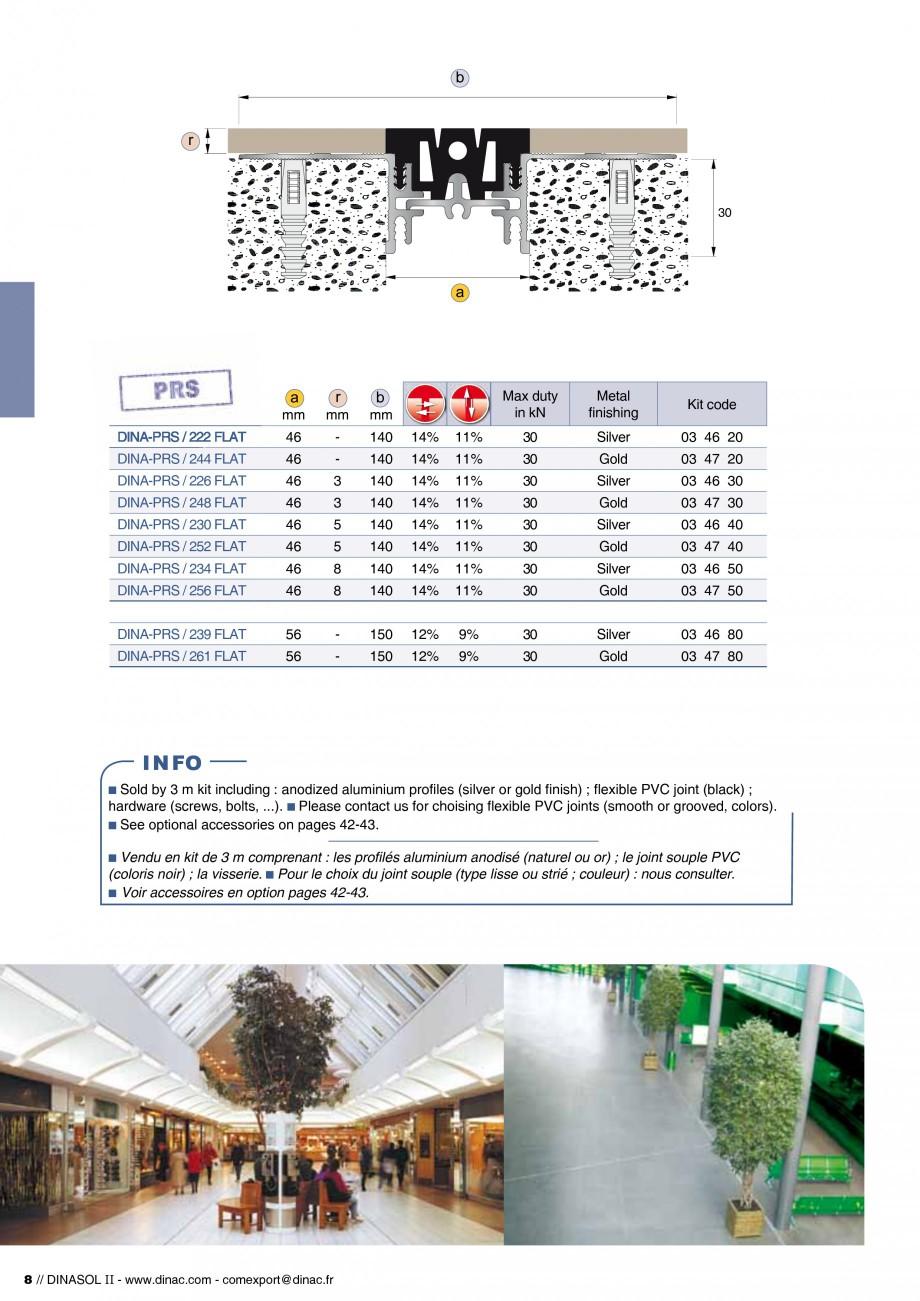 Pagina 10 - Profile de dilatatie pentru pereti, pardoseli  Catalog, brosura Engleza, Franceza x 3,5 ...