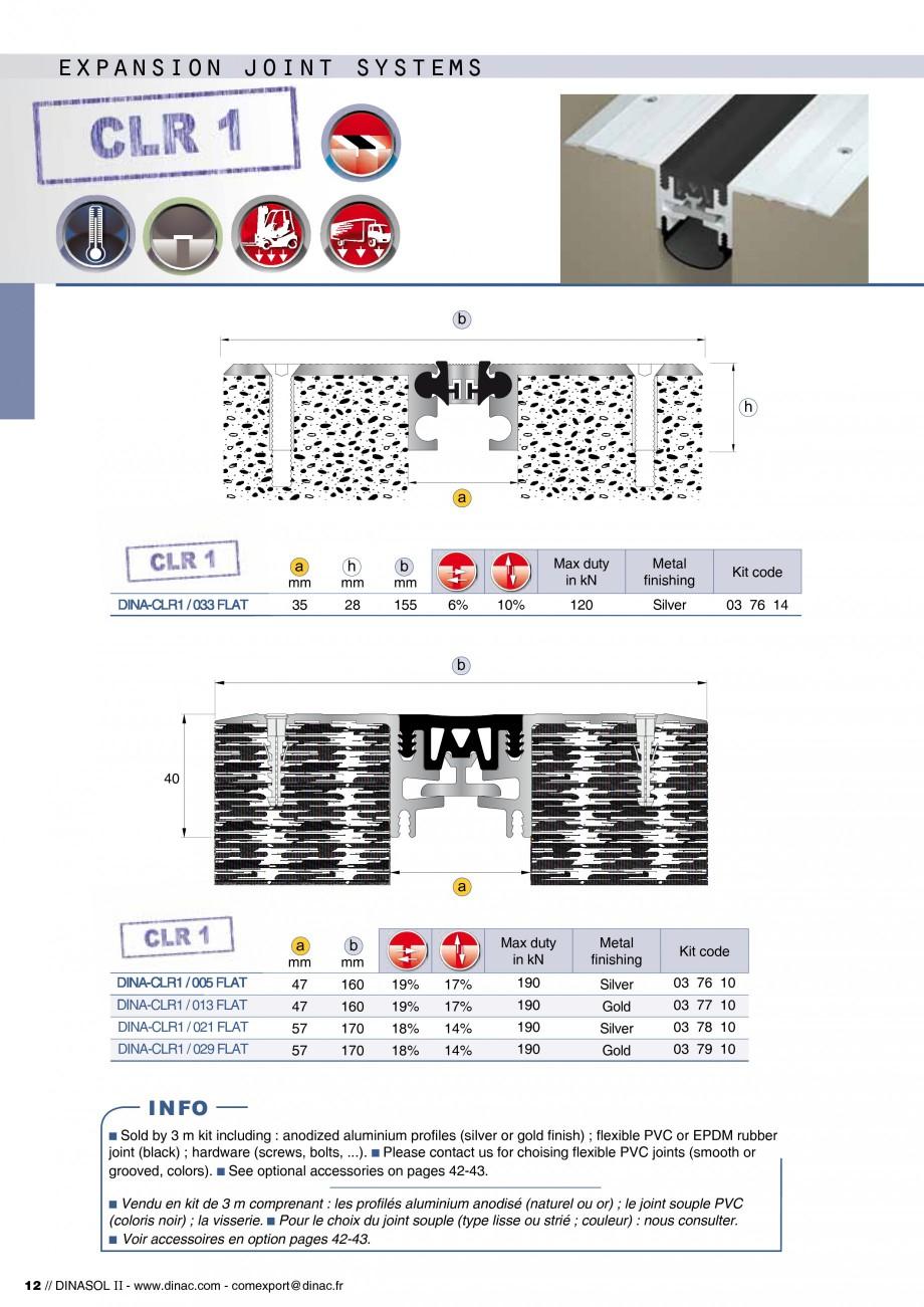 Pagina 14 - Profile de dilatatie pentru pereti, pardoseli  Catalog, brosura Engleza, Franceza...