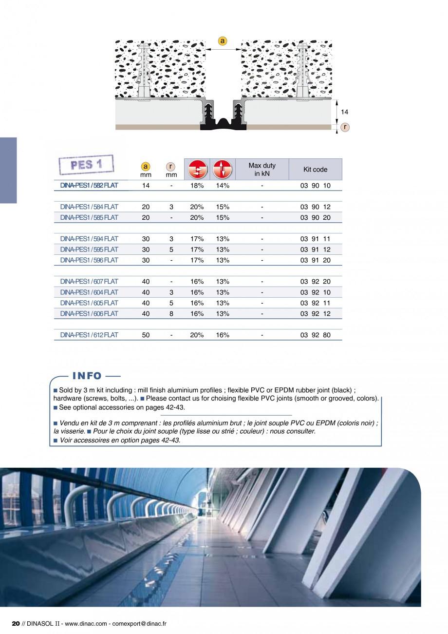 Pagina 22 - Profile de dilatatie pentru pereti, pardoseli  Catalog, brosura Engleza, Franceza -PES1 ...
