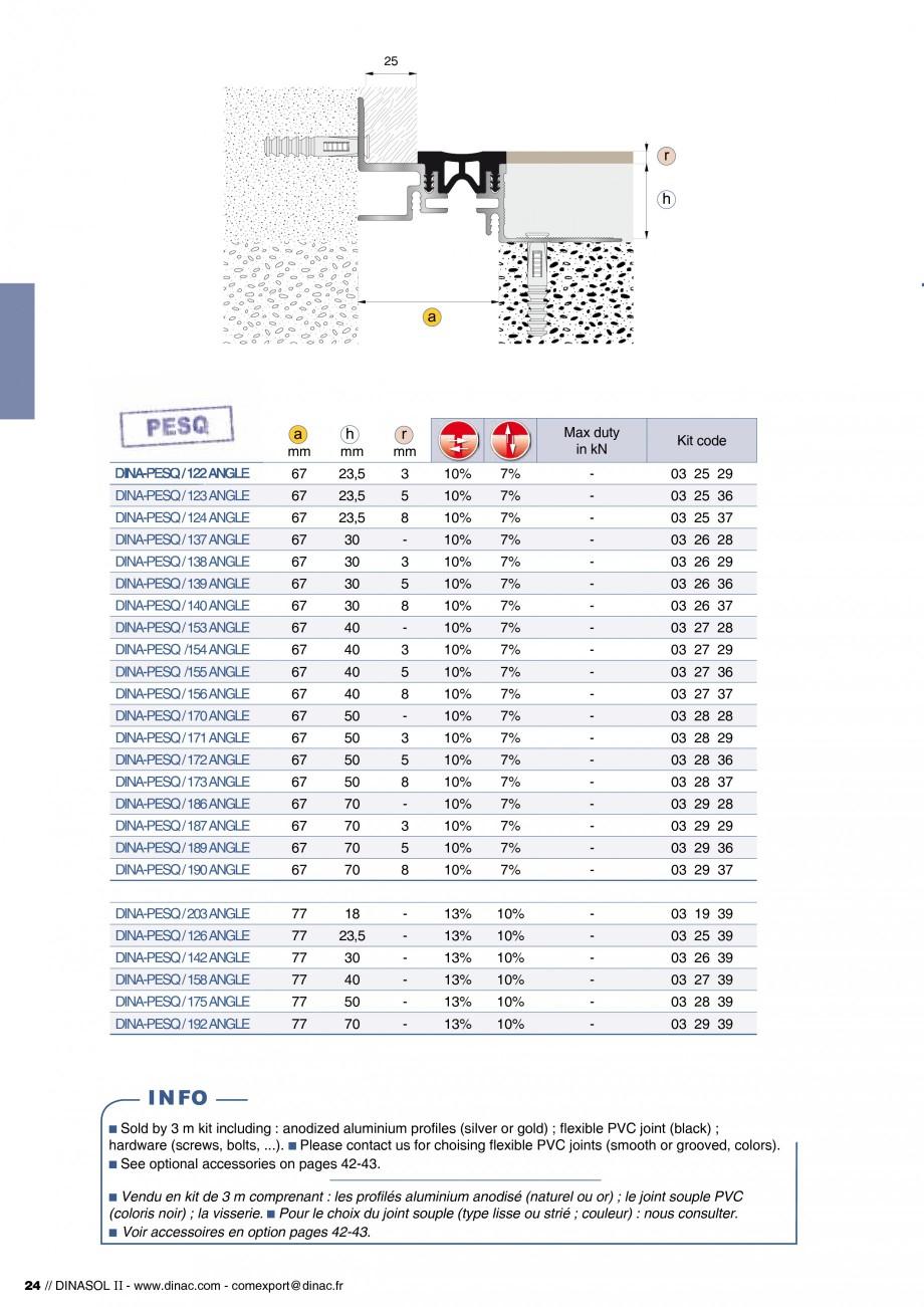 Pagina 26 - Profile de dilatatie pentru pereti, pardoseli  Catalog, brosura Engleza, Franceza ible...