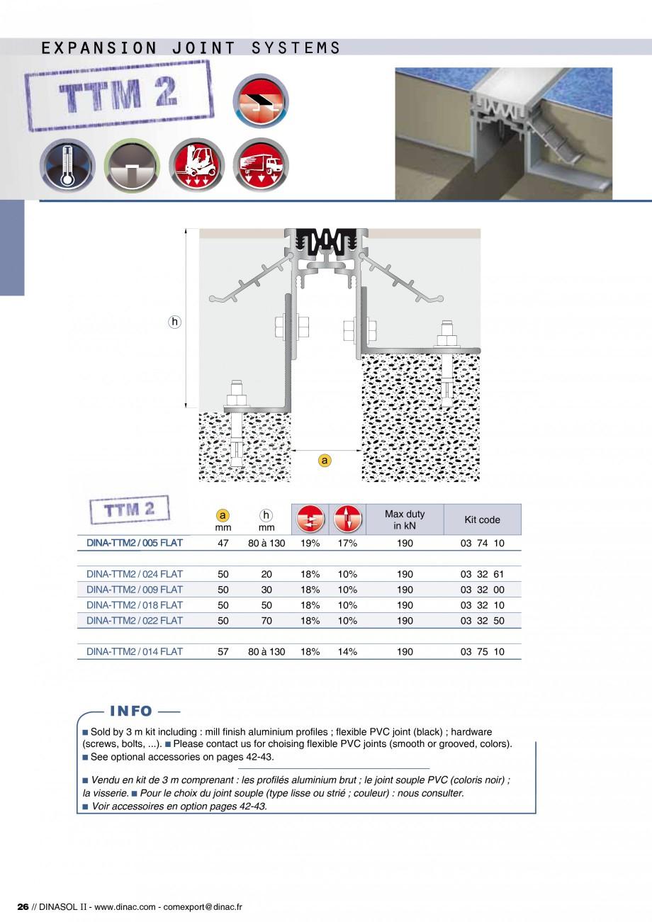 Pagina 28 - Profile de dilatatie pentru pereti, pardoseli  Catalog, brosura Engleza, Franceza 56 50 ...