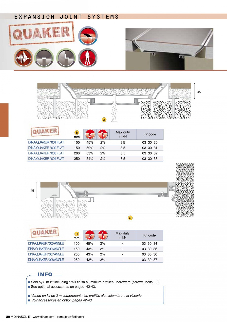 Pagina 30 - Profile de dilatatie pentru pereti, pardoseli  Catalog, brosura Engleza, Franceza  614...