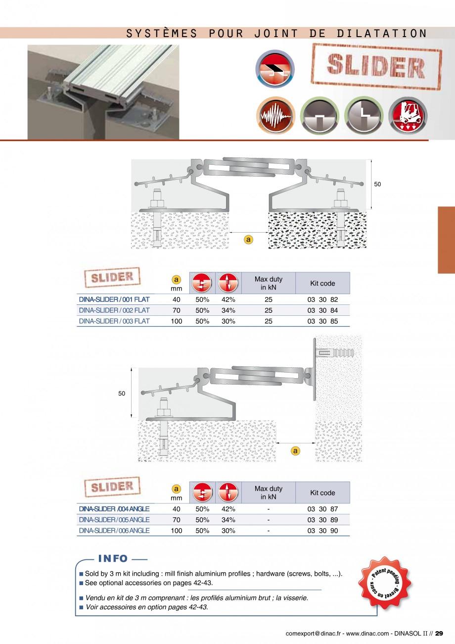 Pagina 31 - Profile de dilatatie pentru pereti, pardoseli  Catalog, brosura Engleza, Franceza -PES1 ...