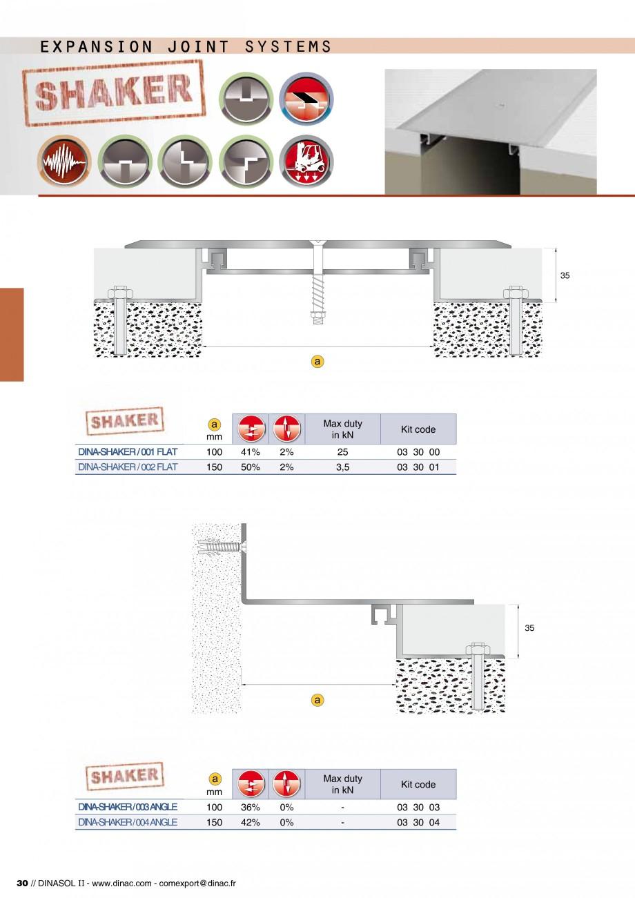 Pagina 32 - Profile de dilatatie pentru pereti, pardoseli  Catalog, brosura Engleza, Franceza stème...