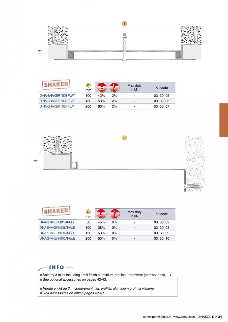 Pagina 33 - Profile de dilatatie pentru pereti, pardoseli  Catalog, brosura Engleza, Franceza...