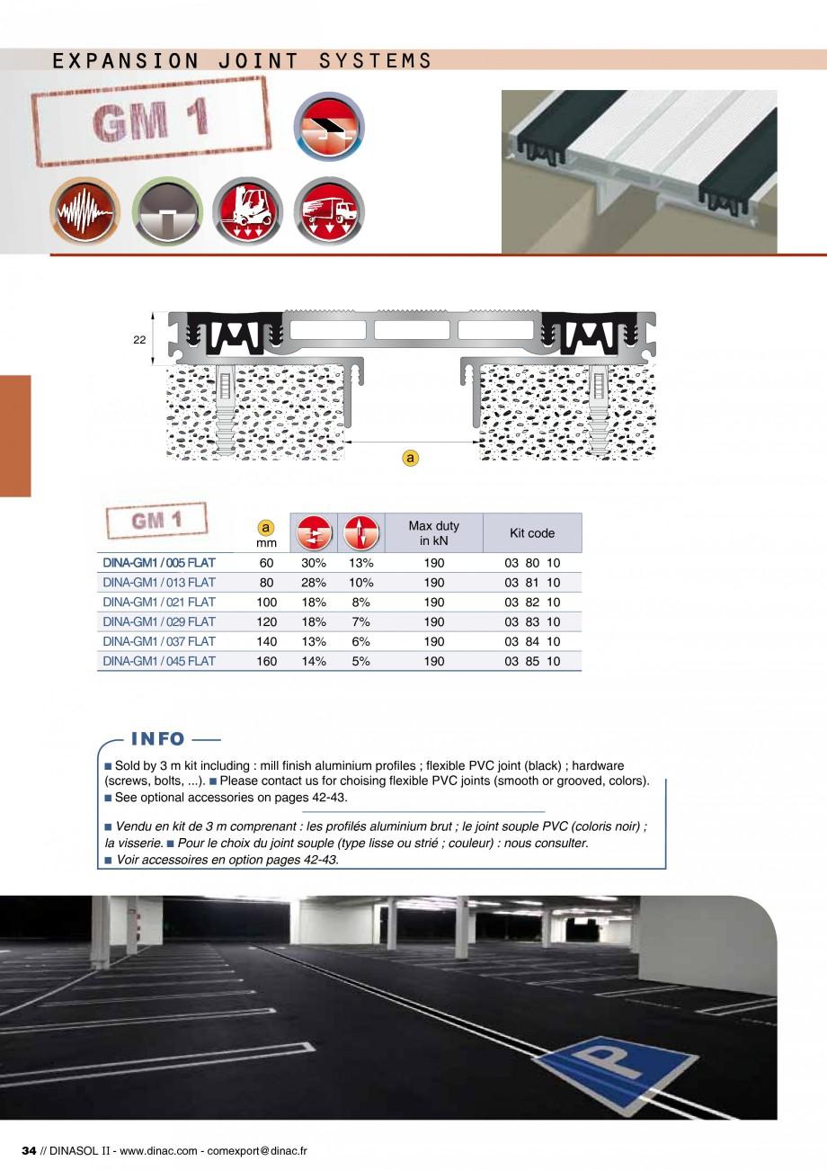 Pagina 36 - Profile de dilatatie pentru pereti, pardoseli  Catalog, brosura Engleza, Franceza 0...