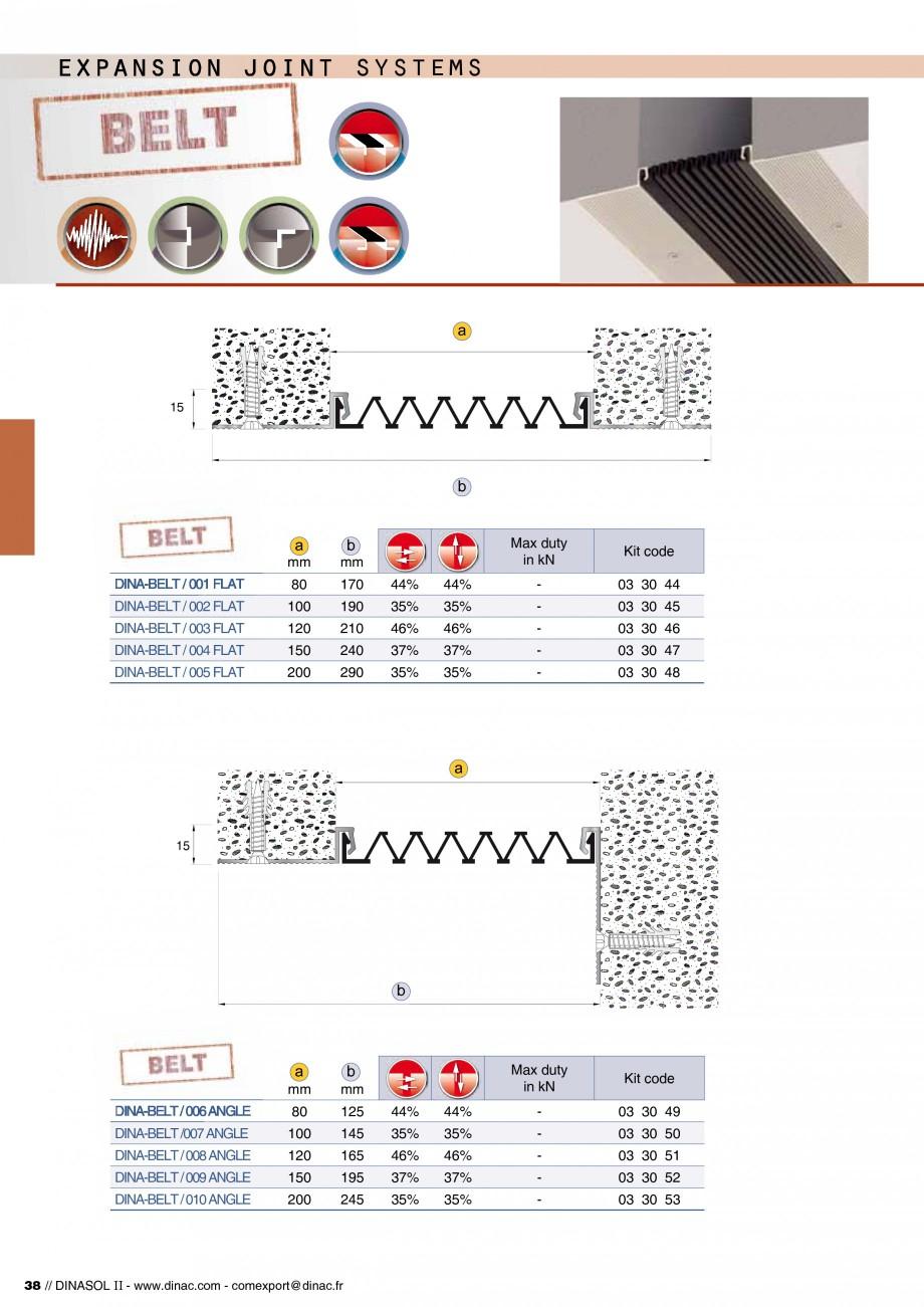 Pagina 40 - Profile de dilatatie pentru pereti, pardoseli  Catalog, brosura Engleza, Franceza / 004 ...