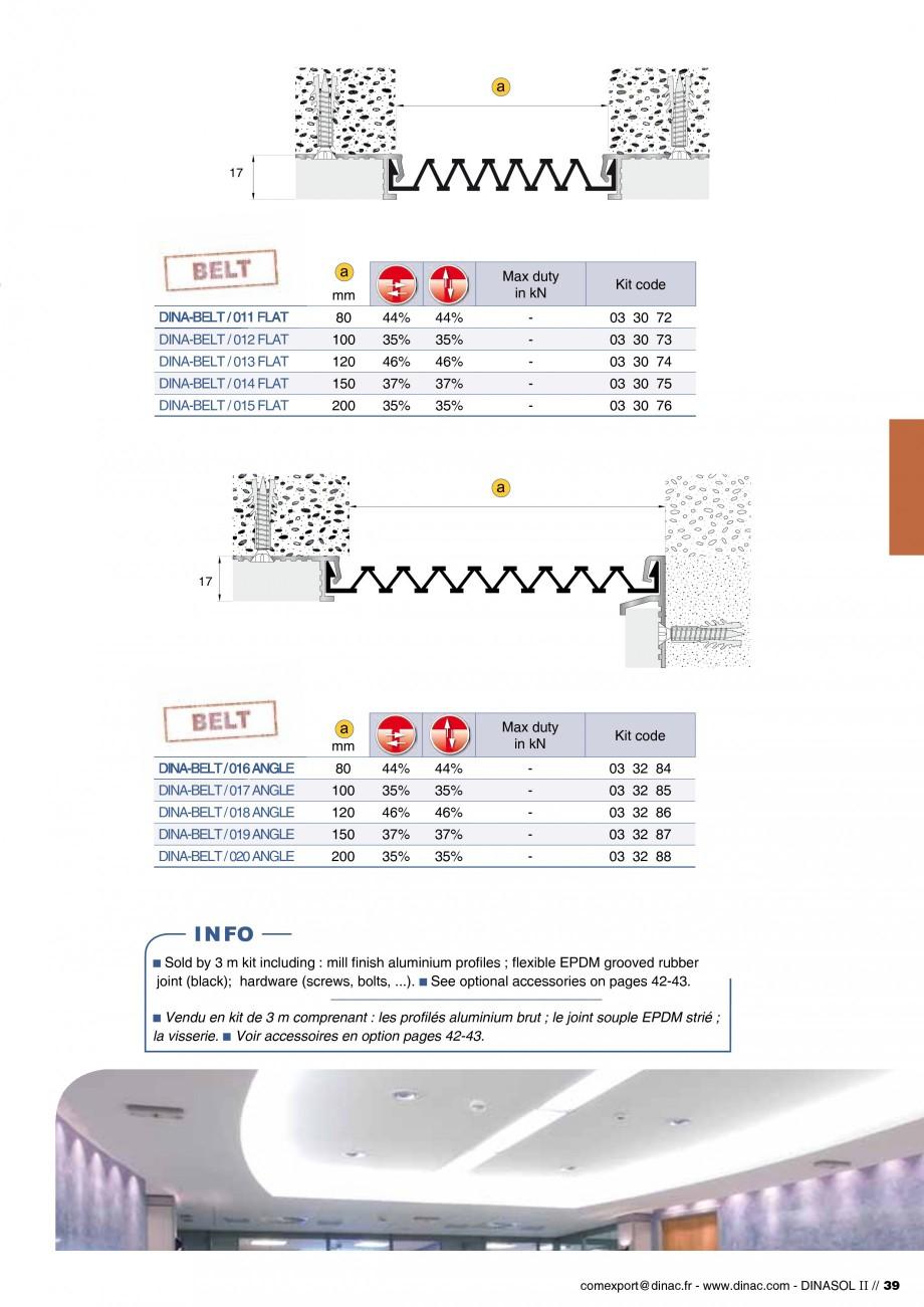 Pagina 41 - Profile de dilatatie pentru pereti, pardoseli  Catalog, brosura Engleza, Franceza 03 30 ...