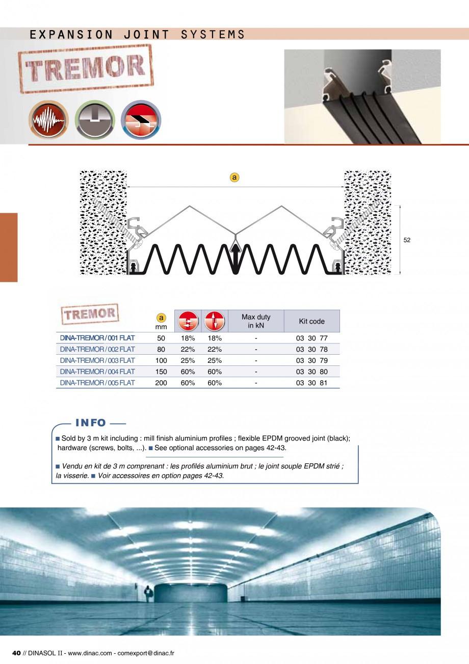 Pagina 42 - Profile de dilatatie pentru pereti, pardoseli  Catalog, brosura Engleza, Franceza...