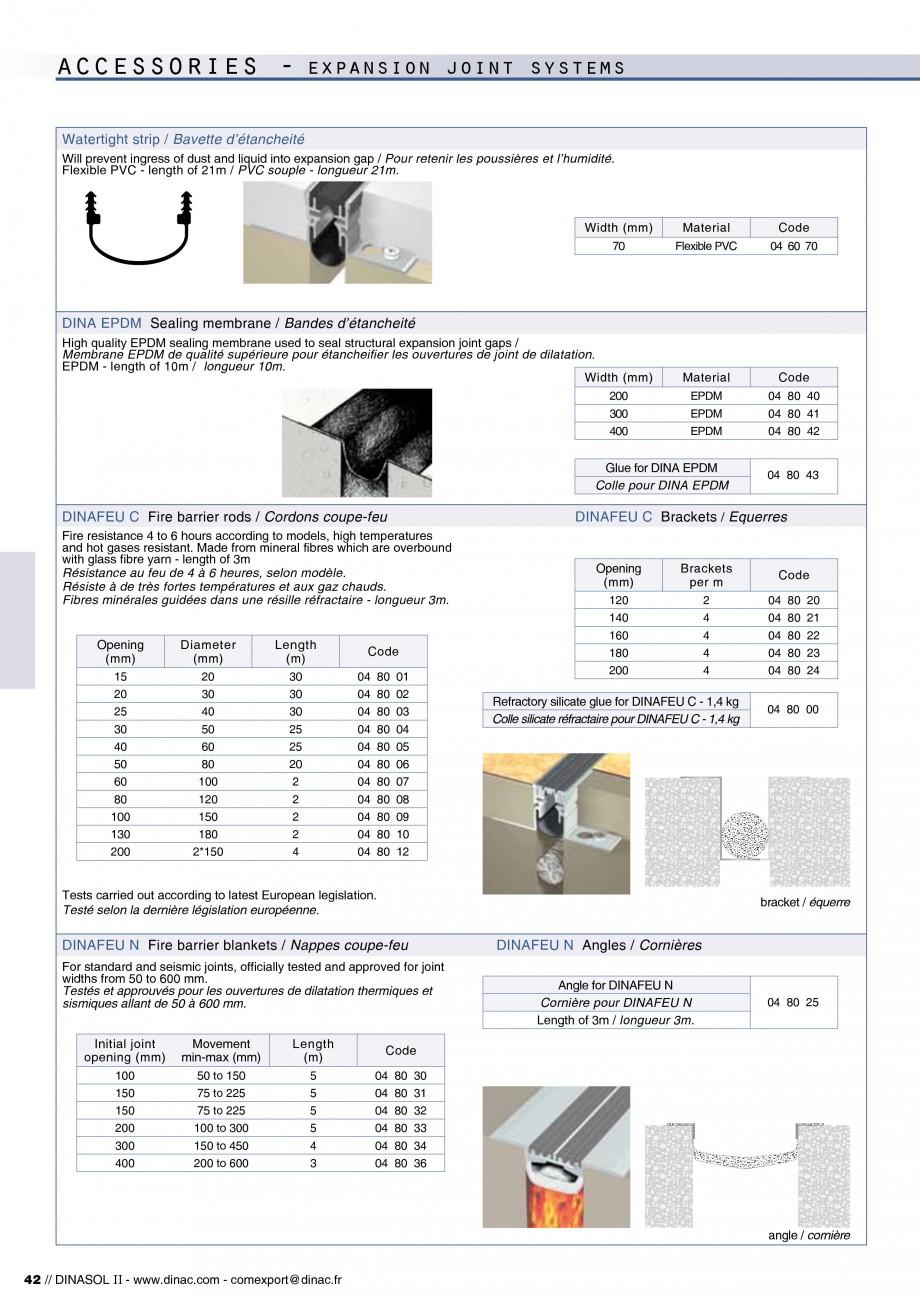 Pagina 44 - Profile de dilatatie pentru pereti, pardoseli  Catalog, brosura Engleza, Franceza VEr / ...