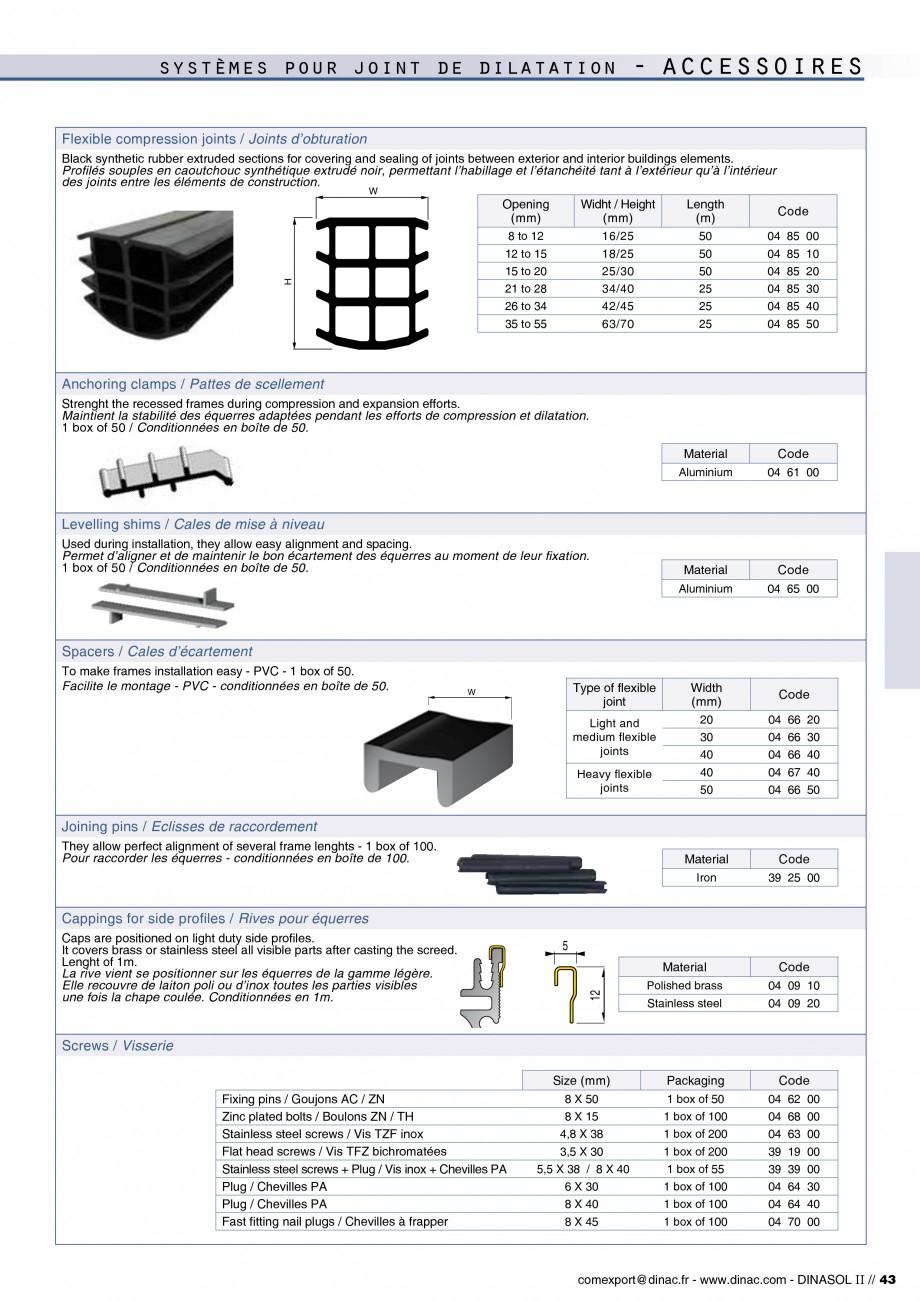 Pagina 45 - Profile de dilatatie pentru pereti, pardoseli  Catalog, brosura Engleza, Franceza files ...