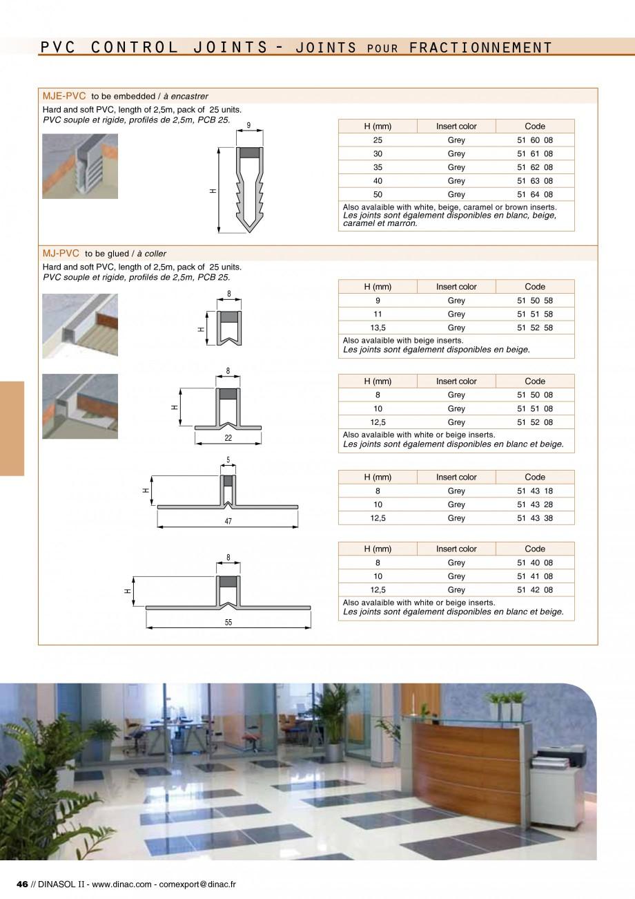 Pagina 48 - Profile de dilatatie pentru pereti, pardoseli  Catalog, brosura Engleza, Franceza  a b...