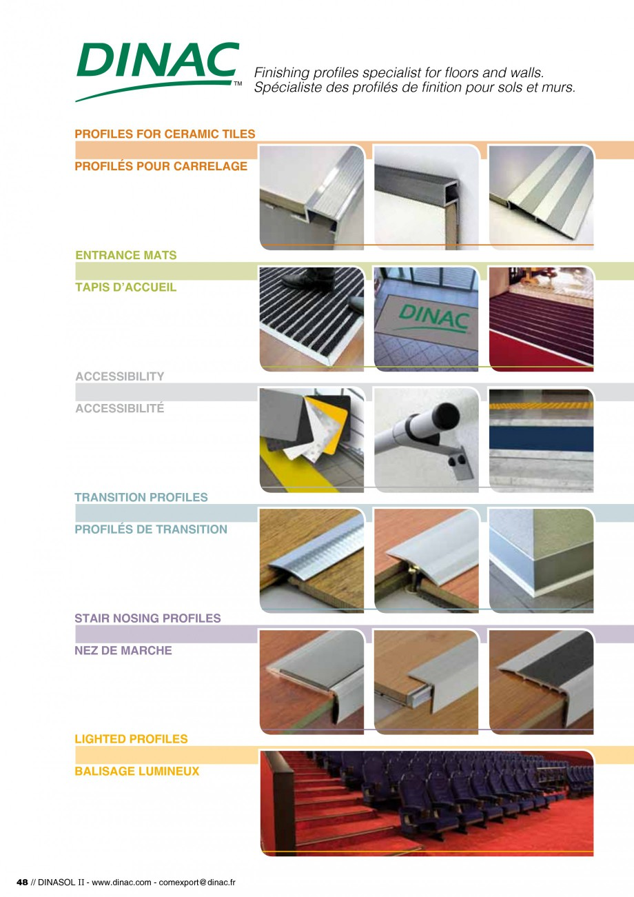 Pagina 50 - Profile de dilatatie pentru pereti, pardoseli  Catalog, brosura Engleza, Franceza es...