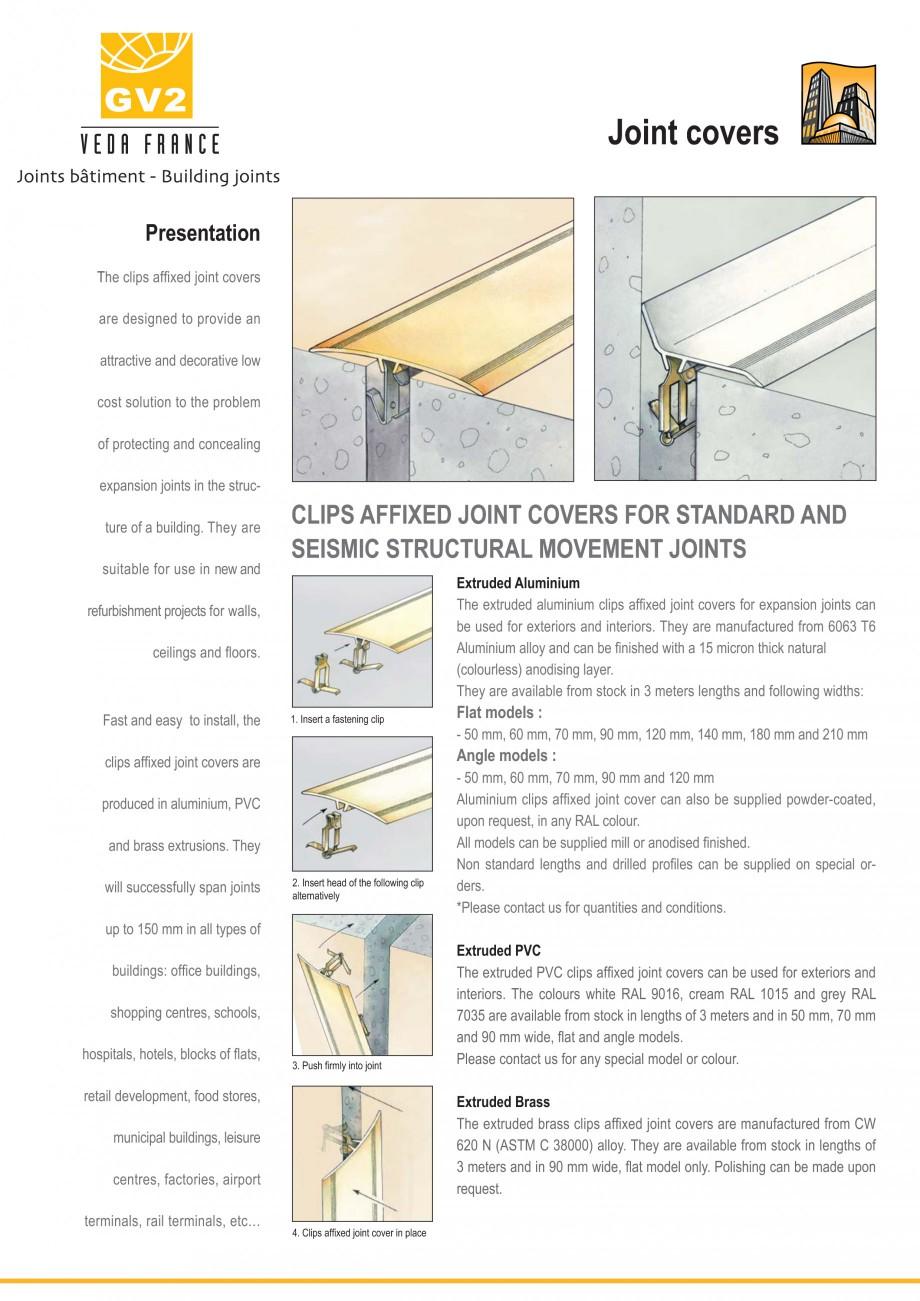Pagina 1 - Profile de dilatatie pentru pereti, pardoseli  VEDA Joint Covers & compression...