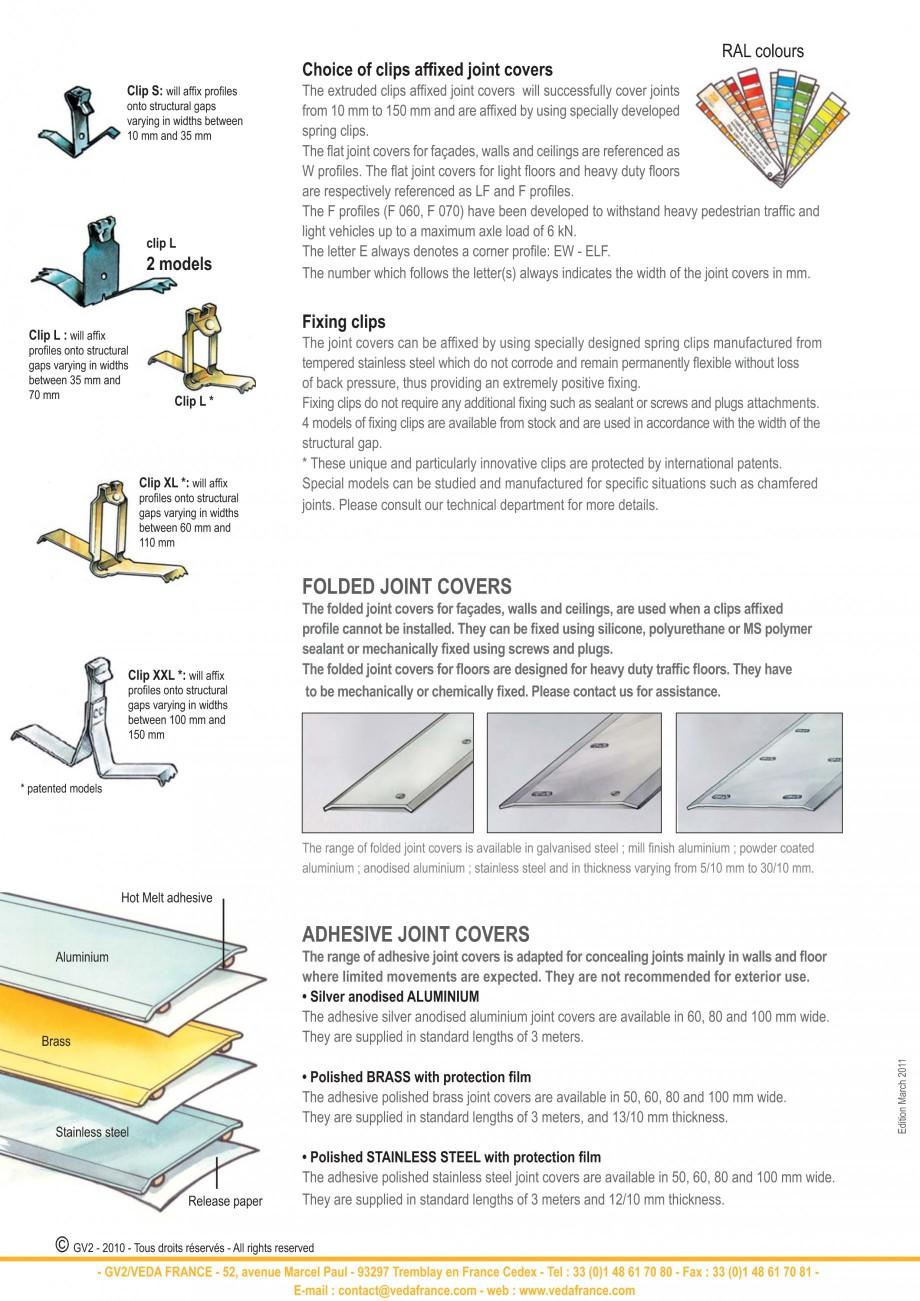 Pagina 2 - Profile de dilatatie pentru pereti, pardoseli  VEDA Joint Covers & compression...