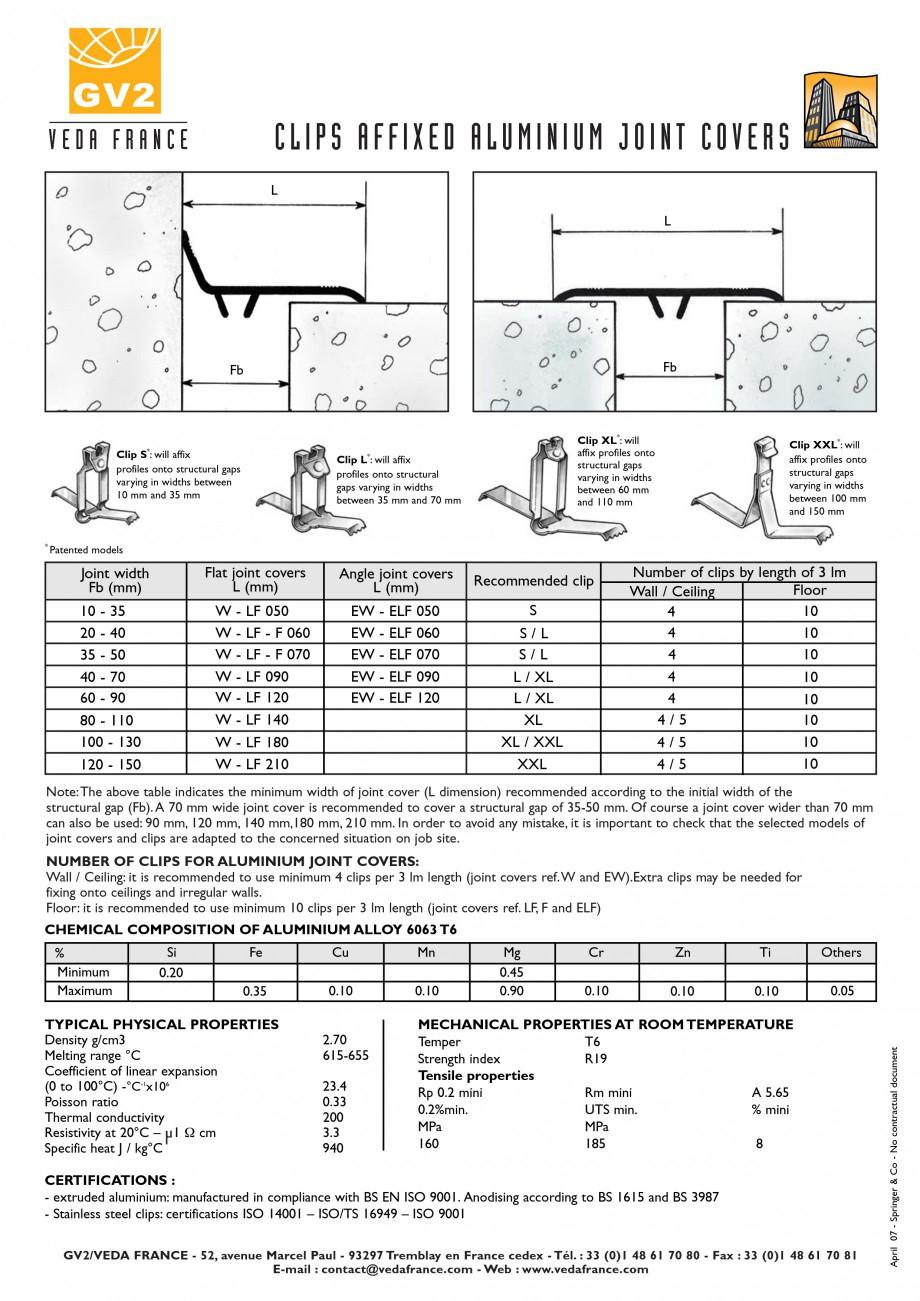 Pagina 3 - Profile de dilatatie pentru pereti, pardoseli  VEDA Joint Covers & compression...