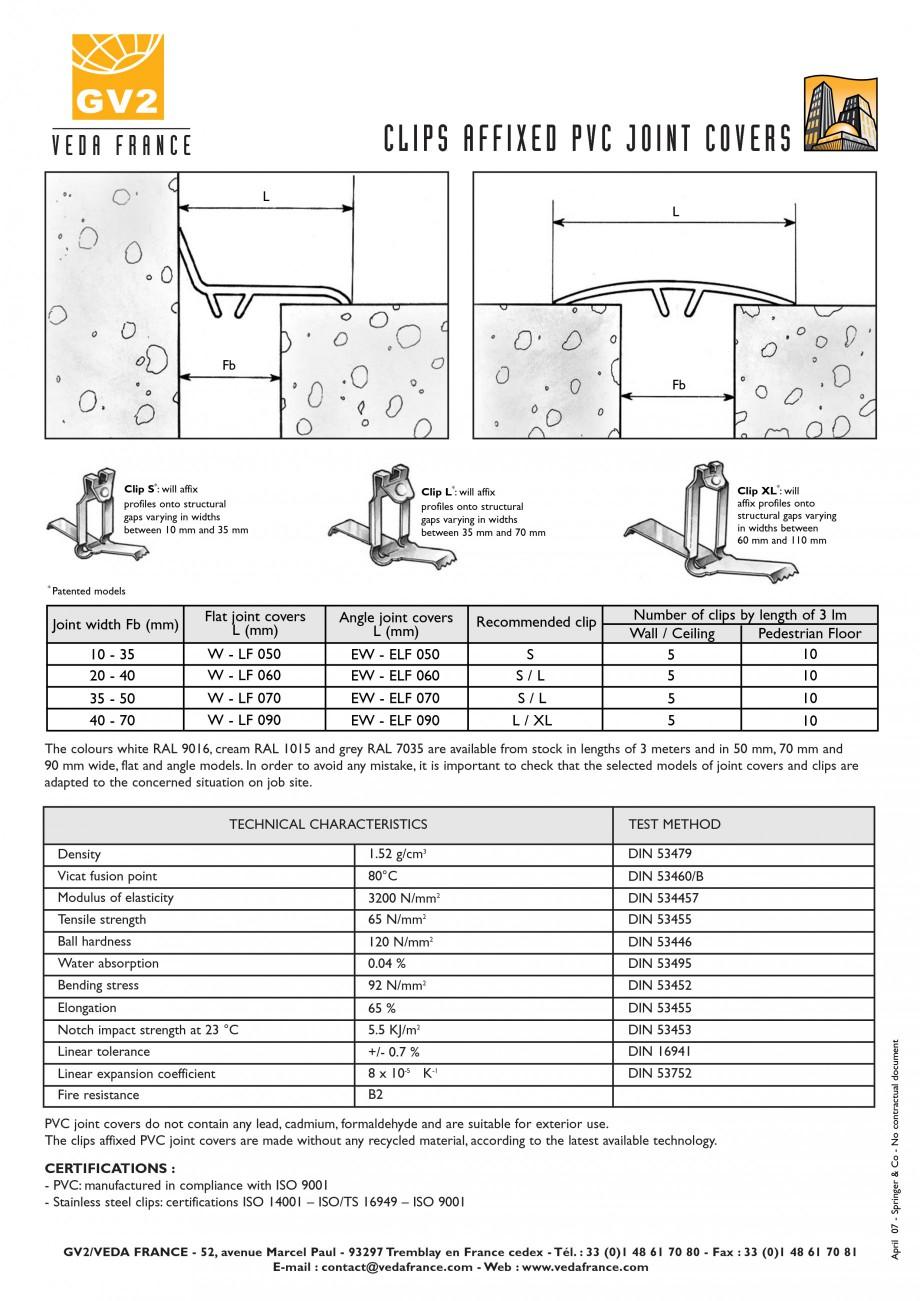 Pagina 4 - Profile de dilatatie pentru pereti, pardoseli  VEDA Joint Covers & compression...