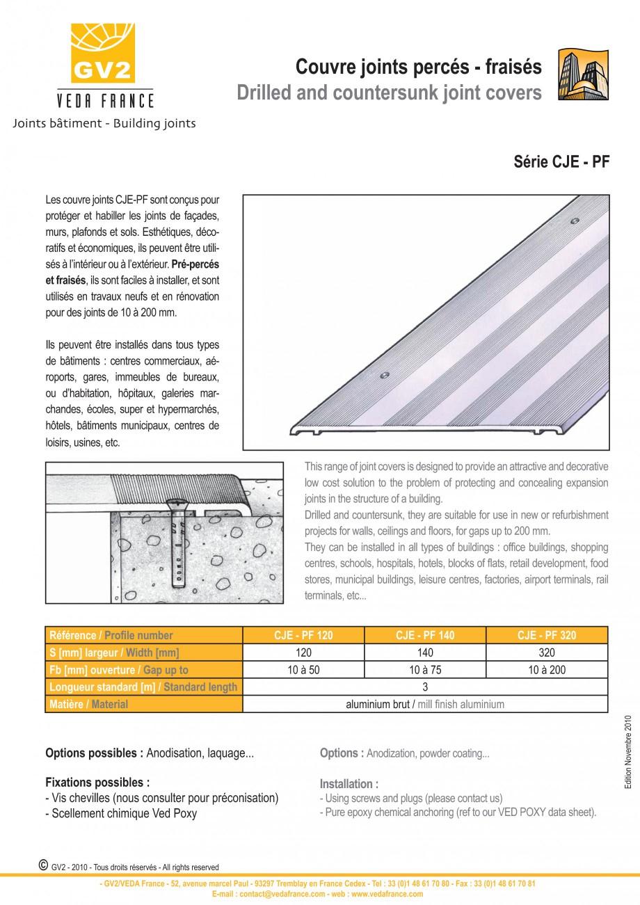 Pagina 5 - Profile de dilatatie pentru pereti, pardoseli  VEDA Joint Covers & compression...