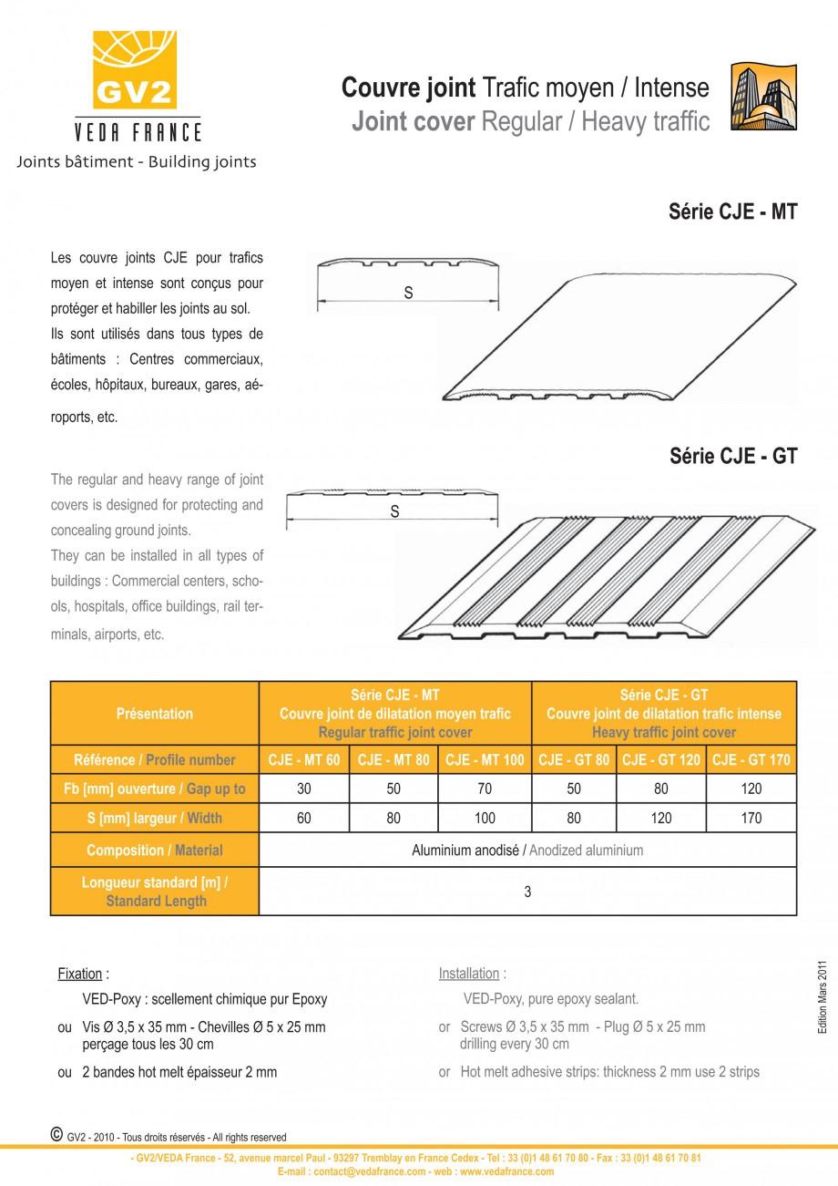 Pagina 6 - Profile de dilatatie pentru pereti, pardoseli  VEDA Joint Covers & compression...